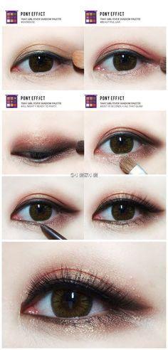 Resultado de imagem para maquiagem kpop olhos