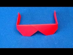 Origami Sunglasses.  How to make Traditional Origami Sunglasses - YouTube