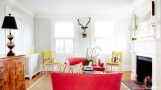 Huff Post Home, a bright white background with beautiful color to jazz it up!