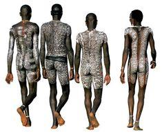 Tre Surma visti di spalle. Per loro il corpo è come una tela sulla quale dipingere (Beckwith/Fisher)