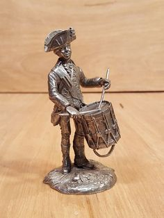 Vintage PERTH PEWTER Colonial DRUMMER Boy TOY SOLDIER Figurine by Lionel Forrest #FranklinMint #perth #pewter #lionel #forrest #colonial #drummer #toy #soldier #figurine