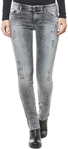 Bekleidung, Damen, Jeanshosen Diesel Jeans, Skinny Fit, Skinny Jeans, Slim, Grey, Pants, Fashion, Summer, Clothing