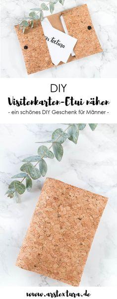 DIY Visitenkarten Etui nähen | ein schönes DIY Geschenk für Männer nähen | ars textura - DIY Blog