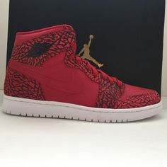 separation shoes 644b7 ef7f9 Name  Nike Air Jordan 1 I Retro High Gym Red Cement Size  10.5 Condition   New   OG Box Style Code  839115 600 Year  2015