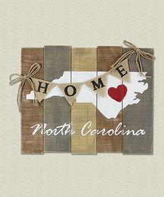 Love this 'North Carolina' Wood Slat Wall Art on #zulily! #zulilyfinds