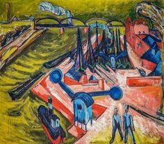 Ernst Ludwig Kirchner - Frankfurter Westhafen (1916)