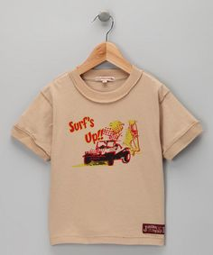 Tan 'Surf's Up' Tee - Infant, Toddler & Boys
