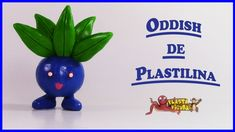 Como Hacer a Pokémon Oddish de Plastilina/How To Make  Pokémon Oddish wi...