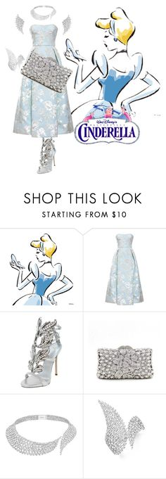 """Disney Princess Inspired Prom/Matric Dance Dress: Cinderella"" by salomemonametsi ❤ liked on Polyvore featuring Rochas, Giuseppe Zanotti, Messika, Prom, disney, cinderella and inspiration"