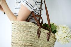 Image of french market basket - double handle