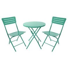 Metal Patio Bistro Set Turquoise - Room Essentials™ : Target