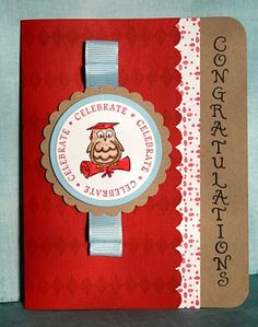 DeNami Whimsical Graduation Owl card by @Wendy Elliot