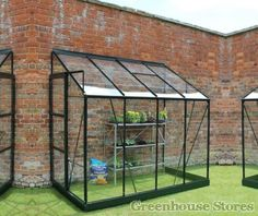 Halls Europa Green 8x4 Lean to Greenhouse http://www.greenhousestores.co.uk/Halls-Europa-Green-8x4-Lean-To-Greenhouse-Horticultural-Glass.htm