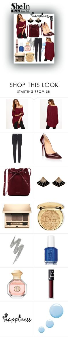 """SheIn contest"" by mk19972000 ❤ liked on Polyvore featuring Paige Denim, Christian Louboutin, Mansur Gavriel, Clarins, Christian Dior, Maybelline, Urban Decay, Essie, Tory Burch and NARS Cosmetics"