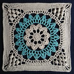 Cathederal Converts Square: FREE ravery crochet pattern