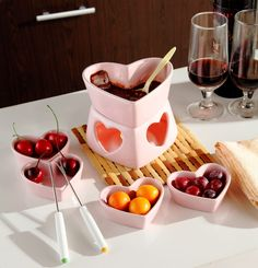 Free shipping 250cc Heart shape pink  fondue set ice cream pot chocolate fondue ceramic cheese hot pot with fork and candle   http://www.slovenskyali.sk/products/free-shipping-250cc-heart-shape-pink-fondue-set-ice-cream-pot-chocolate-fondue-ceramic-cheese-hot-pot-with-fork-and-candle/      Pls kindly note that price do not includes the samll heart dish ,go to below link if you need to buy: