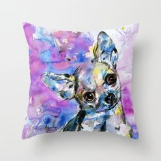 Chihuahua No. 1 ... Pillow Cover from by KathyMortonStanion