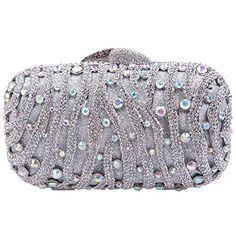 30dea1e7e Fawziya Rain Dot Rhinestone Clutch Purse Bling Crystal Evening BagSilver --  Find out more about