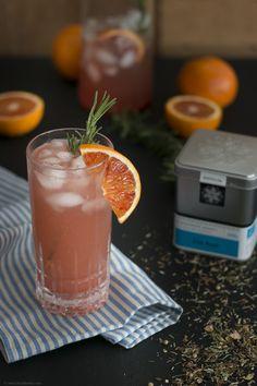 Blood Orange Gin Tea mit Rosmarin und ohne Alkohol  – Backbube