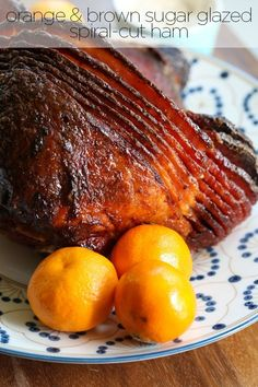 Orange and Brown Sugar-Glazed Ham Recipe That's Perfect For The Holidays, Pin For All Your Parties!
