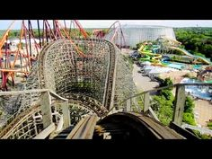 Viper front seat on-ride HD POV Six Flags Great America - YouTube