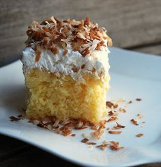 Coconute Cake, recipe Connie told me about.  Must try when I need a coconut fix!  mdb