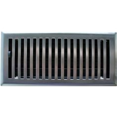 2 X 14 Brushed Nickel Contemporary Floor Register Vent Cover Covers