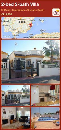 2-bed 2-bath Villa in El Raso, Guardamar, Alicante, Spain ►€119,950 #PropertyForSaleInSpain