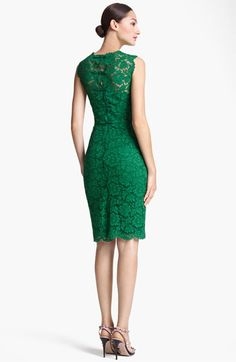 Valentino Lace Sheath Dress...I would wear this in a world wear I had some glamorous holiday party to go to.