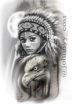 Body Art Tattoos, Tattoo Drawings, Hand Tattoos, Sleeve Tattoos, Girl Face Tattoo, Girl Tattoos, Card Tattoo Designs, Aztec Drawing, Ozzy Tattoo