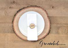 Wood Napkin Rings, Rustic Wedding Decor, Table, Place Setting, Burnt Oak, Reclaimed, Raw, Dinner Party Decor, Weddings, Decoration! HANDMADE