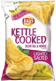 That's why we make our lip-smacking, homestyle LAY'S® Kettle Cooked potato chips in small batches using only the best ingredients. Available in all your favorite flavors. Chip Packaging, Food Packaging Design, Potato Snacks, Potato Chips, Real Food Recipes, Snack Recipes, Yummy Food, Lays Chips Flavors, Kettle Chips