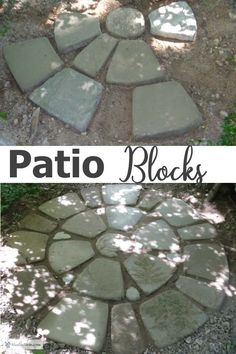 Patio Blocks - make your own soil cement diy pavers Make your own Patio Blocks out of soil cement using this innovative method; create a unique garden focal point to add character to your landscape Kid Friendly Backyard, Patio Blocks, Cement Patio, Patio Layout, Backyard Play, Garden Inspiration, Garden Ideas, Backyard Makeover, Unique Gardens