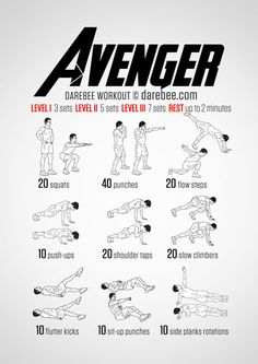 Avenger Workout--This website is BRILLIANT. Has tons of nerdy visual workouts (like this one): Mulan, Assassin's Creed, Various Superheroes/ Villains, Hunger Games, Star Wars, Star Trek, etc. And you can pick which parts of your body you want to work specifically and it will fetch you what workouts fit best! BRILL