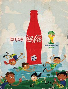 Coke Brazil FIFA World Cup 2014 by Thomas Burns, via Behance