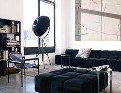 #B&BItalia www.novalis-o.nl Tufty-Time sofa - Frank bijzettafel - sfeer #PatriciaUrquiola