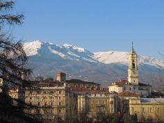 Beautiful view of Ivrea, Piedmont, Italy