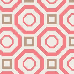 Iconic, Camelot Fab., grafisches Muster rosa beige von FrauFrech-und-HerrFroehlich auf DaWanda.com
