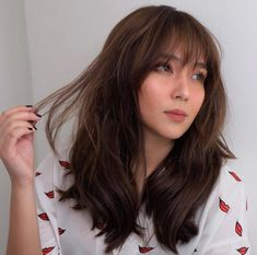 Are you searching for hair care tips? Hairstyle For Long Hair. Kathryn Bernardo Hairstyle, Kathryn Bernardo Outfits, Hot Hair Styles, Medium Hair Styles, Hair Color For Morena, Filipina Beauty, Haircuts With Bangs, Full Bangs Hairstyle, Burgundy Hair