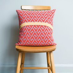 Seven Gauge Studios knitted cushion