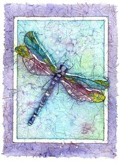 Batik Art,Dragonfly Art,Dragonfly Prints,A Dragonfly Painting, Watercolor Paintings,  Watercolor Painting, Wall Decor, Wall Art Painting, by CarolesStudio on Etsy https://www.etsy.com/listing/114247143/batik-artdragonfly-artdragonfly-printsa
