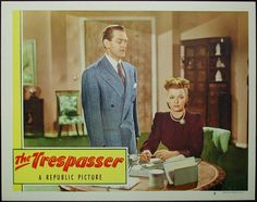 The Trespasser (1947). Janet Martin as Stevie Carson gets a job as a research librarian at the Evening Gazette. Her supervisor is the womanizing Danny Butler (Warren Douglas). Adele Mara as Dee Dee is another research librarian.