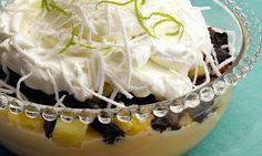 Receita de Creme com abacaxi, ameixa e coco - Doce caseiro - Dificuldade: Fácil - Calorias: 716 por porção