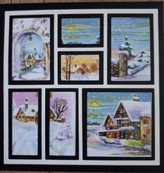 Pop Up Card Templates, Marianne Design, Scrapbooking, Christmas Cards, Gallery Wall, Layout, Frame, Winter, Crafts