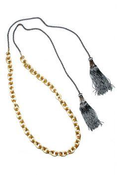 Pretty.    1974 : Tassle Long Chain  Necklace