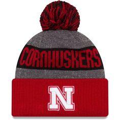 New Era Men's Nebraska Cornhuskers Scarlet (Red) Sport Knit Beanie