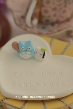 Totoro  wedding wedding cake topper #となりのトトロ #clay #cute