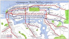 Routes of the Interborough Rapid Transit Company, Manhattan, New York city subway system Vintage reproduction map. Manhattan Neighborhoods, Manhattan New York, New York Subway, Nyc Subway, Wpa Posters, Poster Prints, Travel Posters, New York City Map