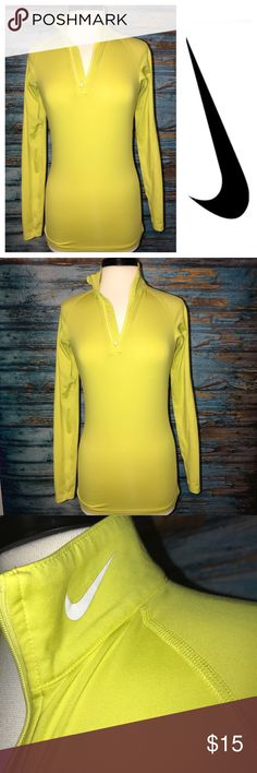 Nike Small 1/2 Zip Yellow Nike small yellow 1/4 Zip Nike Tops Sweatshirts & Hoodies
