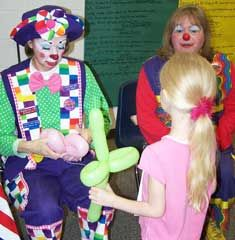 """Balloon Clown - great fun for kids!  Some local balloon clowns will """"donate their time"""" for your non-profit carnival to advertise their services to parents for birthday parties!"""